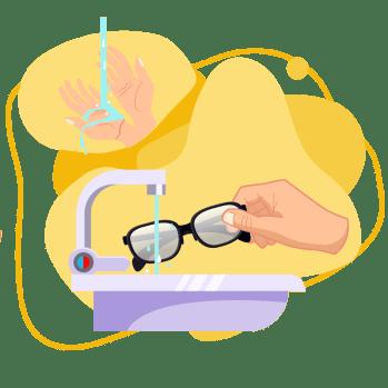 Quantum - ¿Cómo limpiar tus Lentes? - lentes con chorro de agua