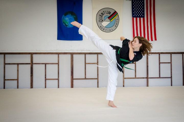 Round Kick, High Green Belt Adult Program