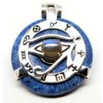 apis Lazuli w/Blue Labradorite Eye – Horus Egyptian Amulet (Front)