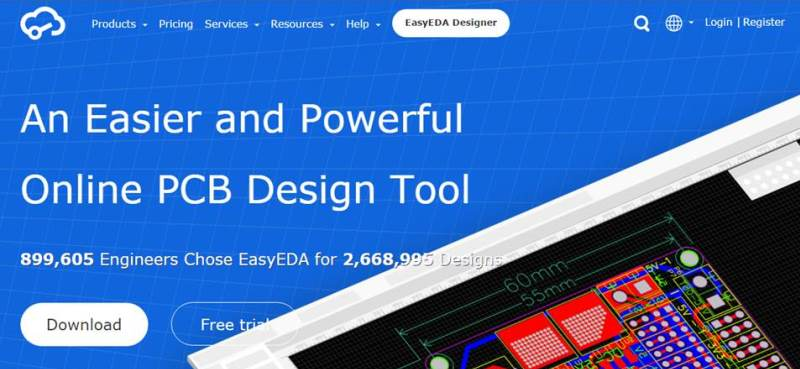 EasyEDA PCB design tool