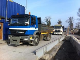 Dowling Quarries Ltd Local County Council Truck on the Weighbridge