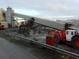 Dowling Concrete Ltd delivery to Galmoy Mine