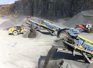 Lisduff Quarry Aggregate production line