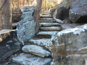 A better representation os the stair, looking back up.