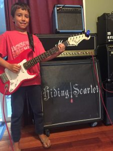 Young Guitar Student