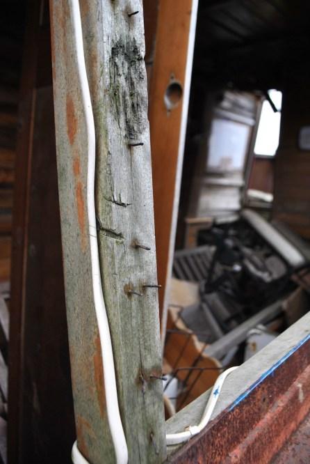 abandoned boat kitchen