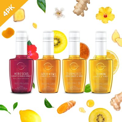 Q Fruit Tea Infusions Mixed 250mL (4 Pack)