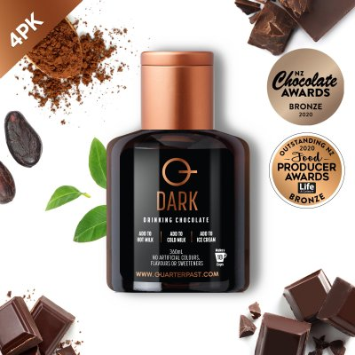 Q Dark Hot Chocolate 360mL (4 Pack)