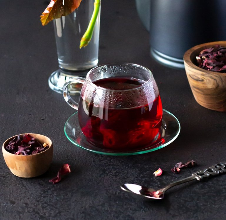 Beautiful Hibiscus Fruit Infusion