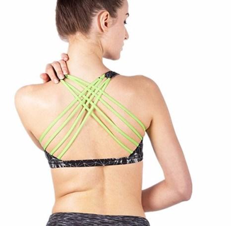 Queenie Ke Women's Light Support Cross Back Wirefree Pad Yoga Sports Bra - $16.88US