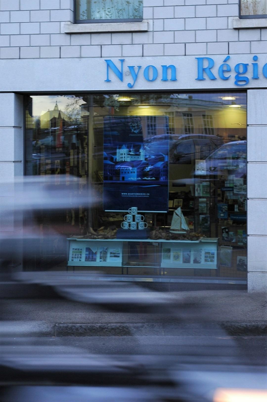 Vitrine du Quartier de Rive- Nyon Région Tourisme