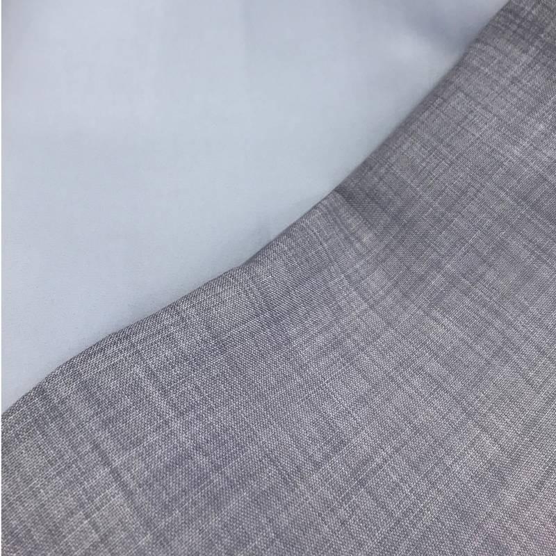 tissu occultant ignifuge linara polyester gris souris pour rideaux