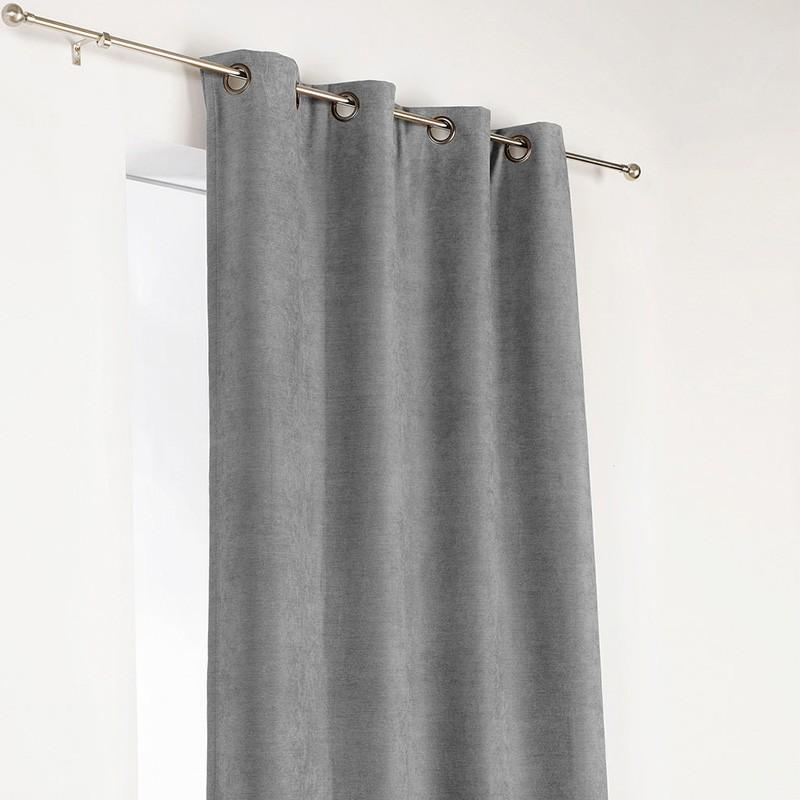 rideau obscurcissant isolant gris clair