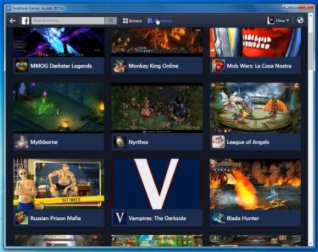 Facebook game store