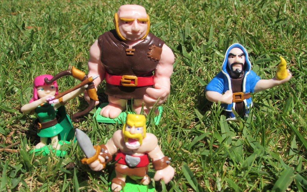 Clash Royale et Clash of Clans sortent leurs premières figurines