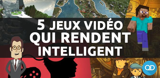 5 jeux vidéo qui rendent intelligen