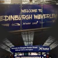 Viajando de trem de Edimburgo até Glasgow