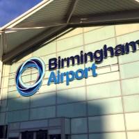 O Aeroporto de Birmingham no Reino Unido