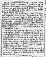 Campeonato de la Unión Velopédica española pasa por Quart (mayo 1904)