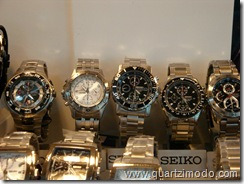 Newer Seiko watches, with an SNA225P in the middle