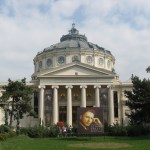 The Romanian Atheneum, at the George Enescu Festival. The International Competition is one of the biggest in Eastern Europe. The first festival, in 1958, featured Yehudi Menuhin and David Oistrakh. Now the festival is held every two years.