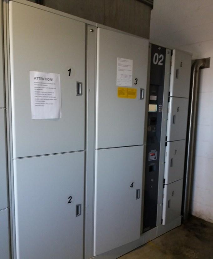 Locker no aeroporto de Charleroi - Bruxelas. Foto: Mari Dutra