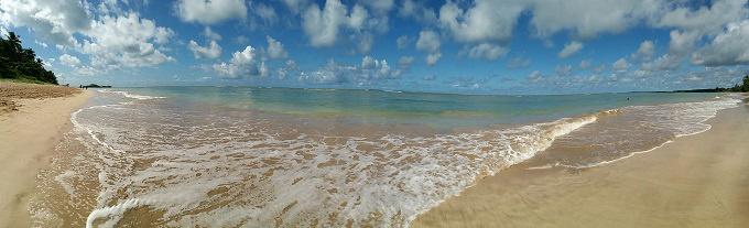 Panorama da praia de Morro de SP