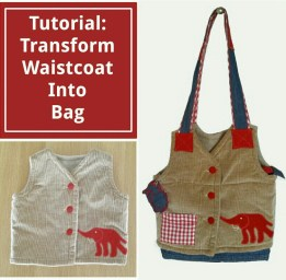 Tutorial: Transform Waistcoat Into Bag