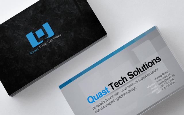 Quast Business card mockup