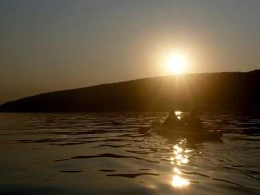 Kayak de mer Coucher de soleil Ile d'Orléans 02