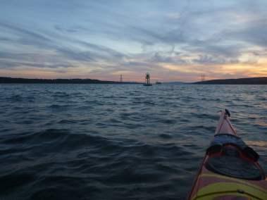 Kayak de mer Coucher de soleil Ile d'Orléans 05