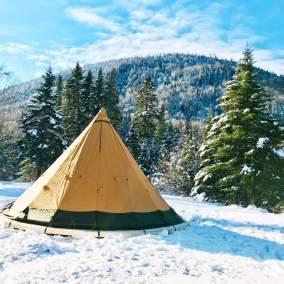 Camping d'hiver au parc national de la Jacques-Cartier