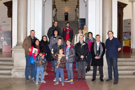 Il gruppo della SFA con il dott. Šemrov (primo da destra)