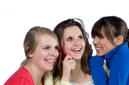 image of girls talking