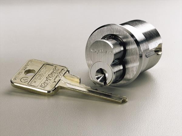 image of deadbolt lock with key