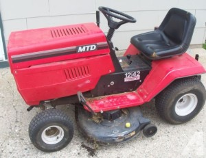 MTD riding mower image