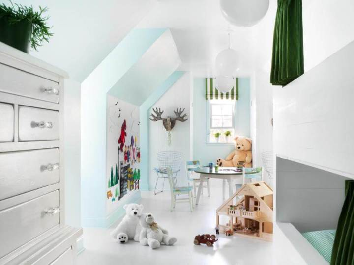 playroom attic design