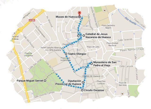 Ruta Ciudad Huesca