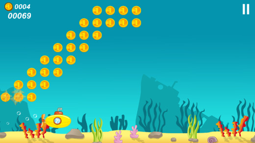 Submarine Happy Dive 2D Game