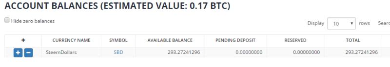 QUE.com.Bittrex.Buy.STEEM.SBD.wallet