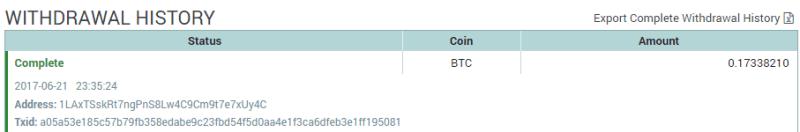 QUE.com.Poloniex.Bitcoin.Withdraw.Balance.History