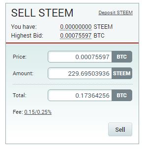 QUE.com.Poloniex.STEEM.sell