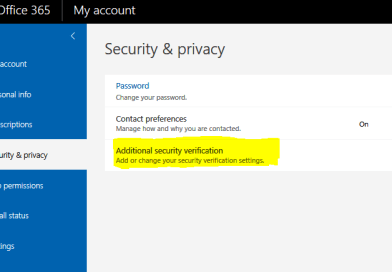 HOWTO – Office 365 Additional Security Verification is not showing
