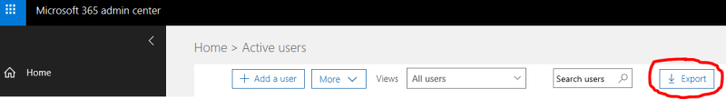 QUE.com - Office365 Exporting Users