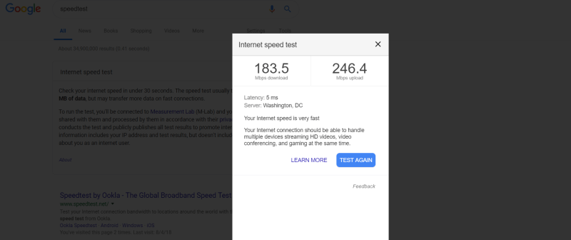 Que.com.Google.Internet.SpeedTest