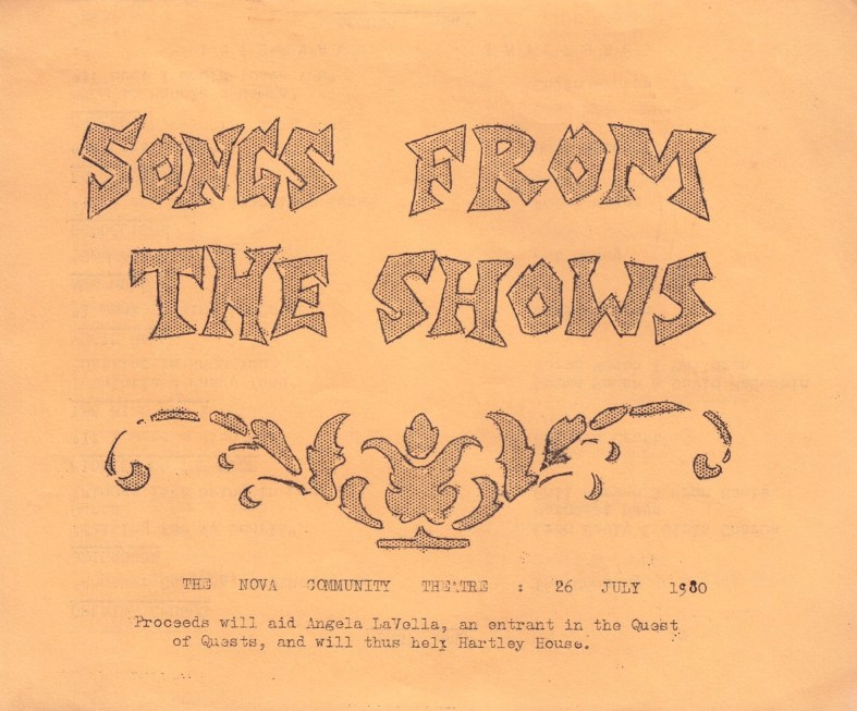 1980 Songs From the Shows