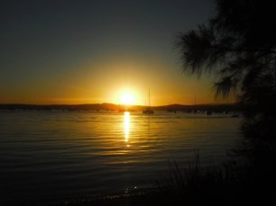 Sunset over Lake Macquarie