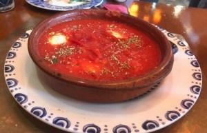 Queso Mozzarella gratinado con salsa napolitana