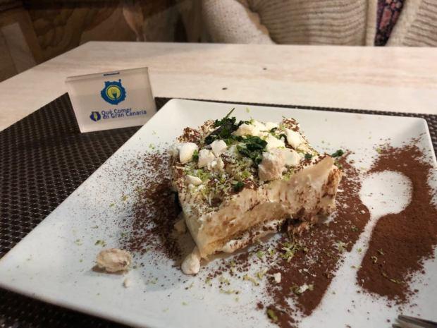 Postre Coco Food&wines San Fernando Qué comer en Gran Canaria