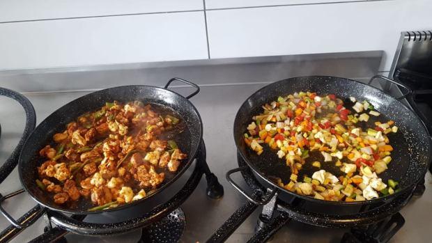 Preparación paella Directo al grano by Nesta
